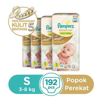Pampers Popok Perekat S 4x48 Premium Care