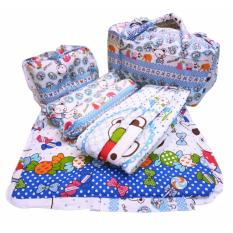 Perlengkapan Bayi Tas Bayi - Gendongan - Bantal Guling - Matras Bayi - 4 In 1 - Candy Bear