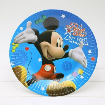 Piring Motif Mickey Mouse 10 Pcs