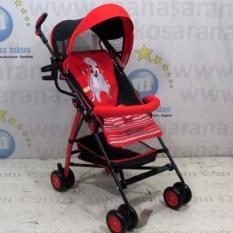 Pliko Buggy Winner PK-106 - Buggy Baby Stroller / Kereta Dorong Bayi - Merah