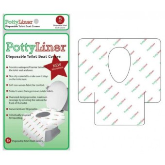 harga PottyLiner Disposable Toilet Seat Covers with Anti Slip - 5 Pcs Lazada.co.id