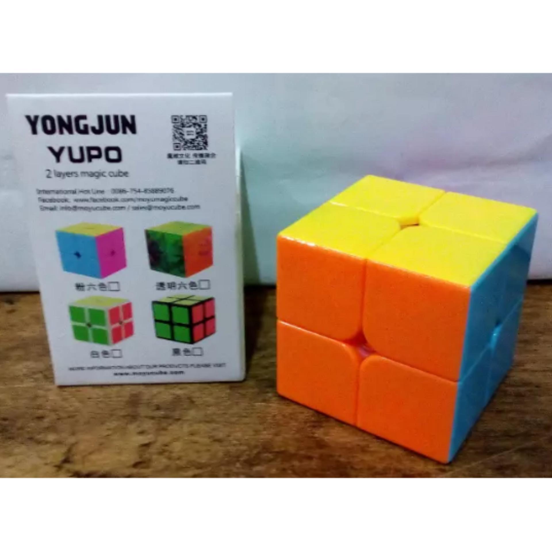 Rubik 3x3 White Base Painted Color Yong Jun Magic Cubic Rubiks 3x3x3  Promo Mainan 2 X Yongjun Yupo Stickerless