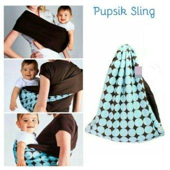 Pupsik Studio Baby Pouch Carrier Blue Gendongan Instant
