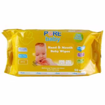 Pure Baby - Hand & Mouth Baby Wipes 60Sheets / Tissue BasahBayi