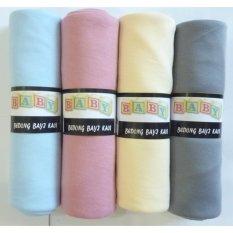 RAMe - BABY Bedong Bayi Kaos Multi CUSTOM Isi 4 pcs/ Selimut Bayi / Alas bayi Warna (Sky, Rose, Lemon, Grey) Bahan Halus