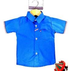 Rosita Baju Atasan Kemeja Anak Laki - laki Cowok 1-2 Tahun - Stripe Biru
