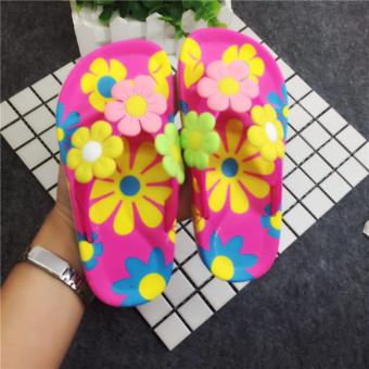 Sandal Jepit Anak Perempuan Motif Bunga