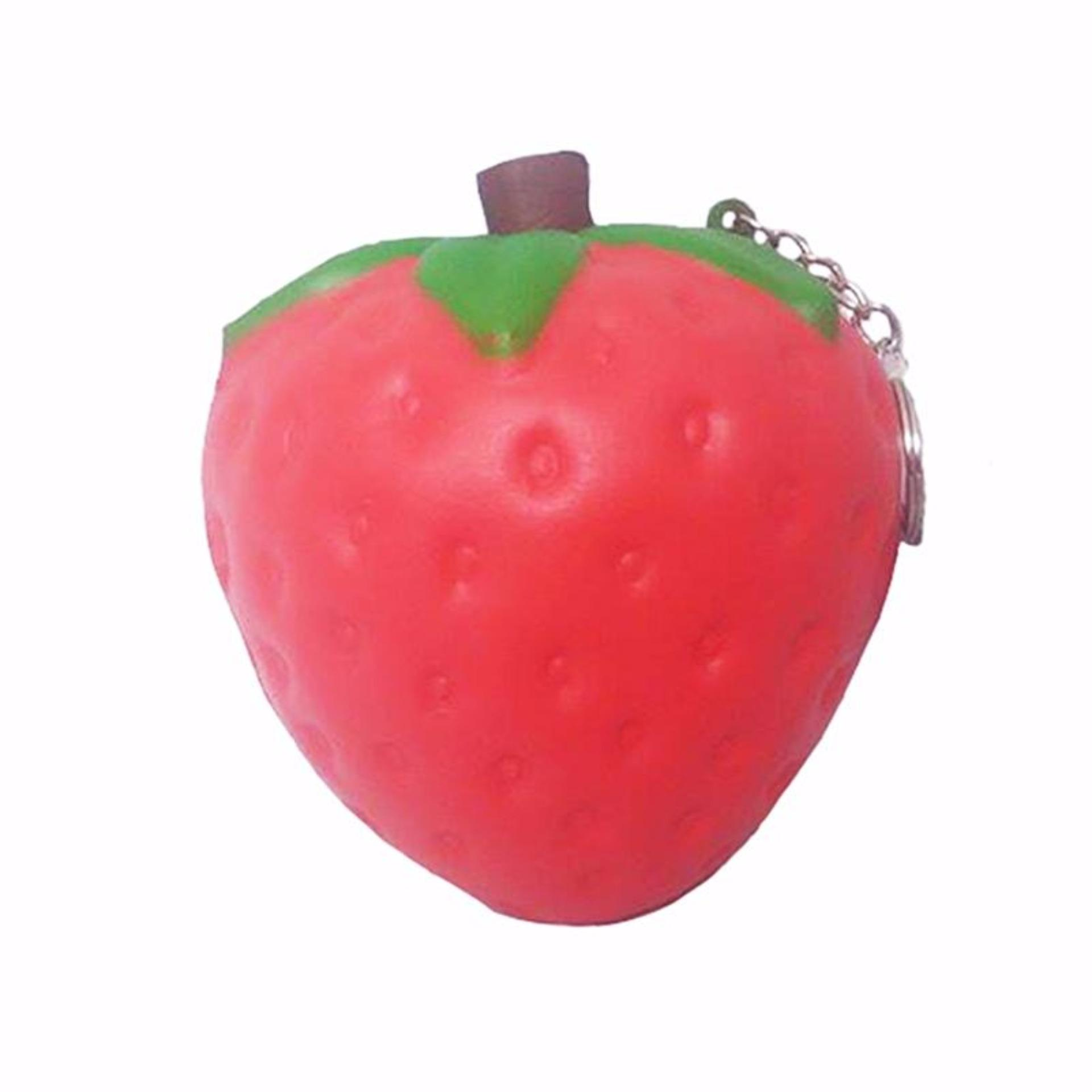 Simply Chic Gantungan Kunci Squishy Stroberi (Squishy Simulation Strawberry Slow Rising Squishy .