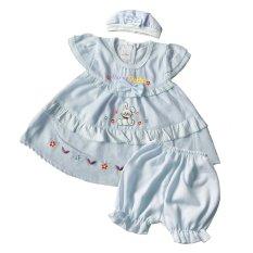 Skabe Baju Anak Bayi Perempuan W/Muda 1674 - Biru Muda