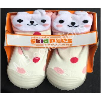 Skidder Sepatu Bayi / Sepatu Karet Bayi / Skidder Sepatu Motif 3DKelinci Putih Uk 20