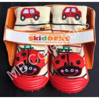 Skidder Sepatu Bayi / Sepatu Karet Bayi / Skidder Sepatu MotifBoneka Kepik Merah Uk 22