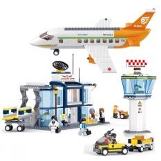 SLUBAN construction eductional Bricks Building Blocks Sets aviation series International Airport children toys