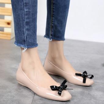Small Fragrant Wind kecantikan manis Cooljie jelly sepatu sepatu kepala persegi