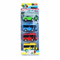 SnE Toys - Mainan Anak Tayo Bus  - Tayo Little Bus - 4 Pcs Set