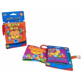 Softbook Busy Day Baby - Buku Cerita Buku Edukasi Anak Buku murahBuku Bayi Buku Newborn Buku Ajaib Buku Cerita Dari Kain
