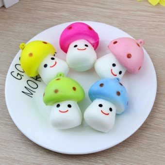 Jual Squishy Mini Jamur Mushroom Emoticon Senyum - 1 Pcs Murah