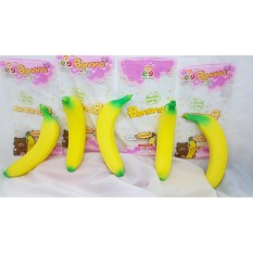 Squishy Pisang ORiginal + Packing dan wangi pisang original