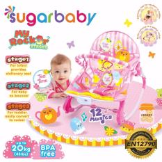 Sugar Baby MRK30003 Tea Time Rocker 3 Stages Baby Bouncer - Ayunan Bayi (Pink)