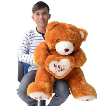 Harga Syuka Kids Boneka Teddy Bear I Love You Besar Jumbo 80 cm (SNI) -Coklat