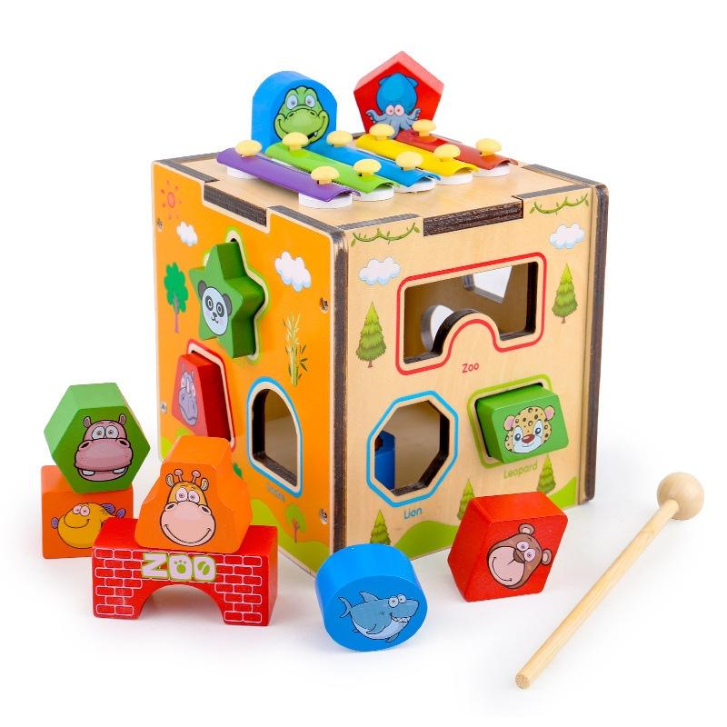Tahun gadis berusia anak-anak bayi dan anak usia dini blok bangunan mainan