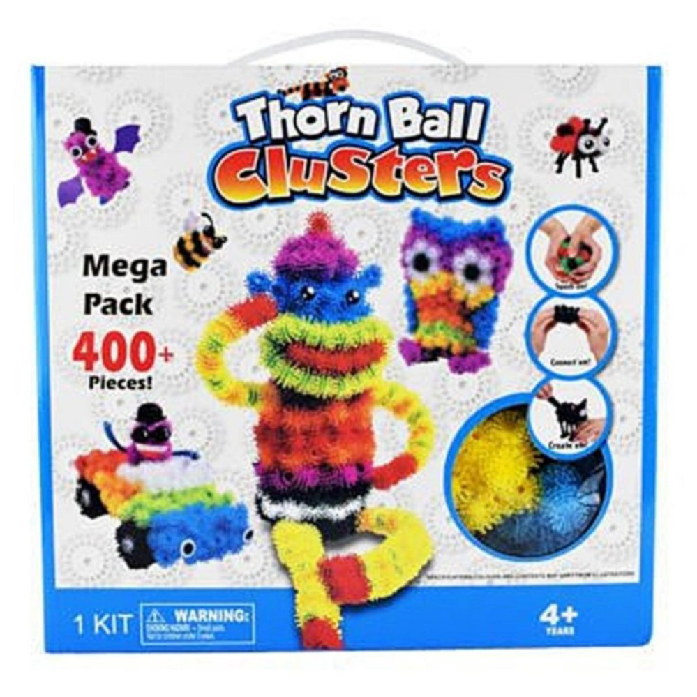 Perbandingan Harga Thorn Ball Clusters Mega Pack Bunchems 400 Mainan Anak Yoyo Ubur Lampu Pinokio Puffer Purple Green Pink Orange Pieces