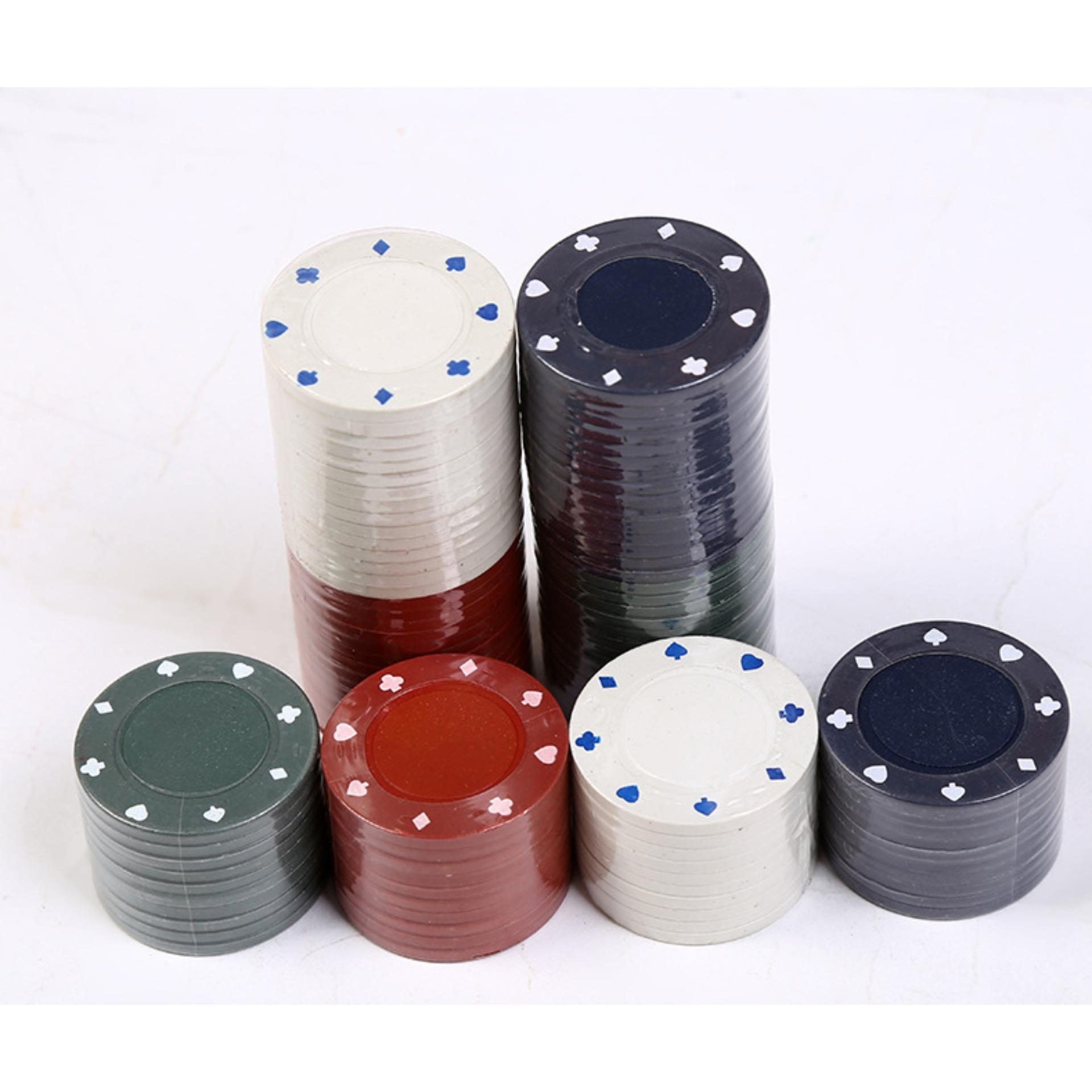 Tokuniku Board Game Professional Poker Chips Game - Small Size - Multi Colour .