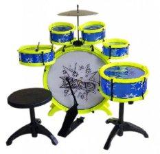 Tomindo Big Band Drum / Mainan Drum Anak - Biru-Lime
