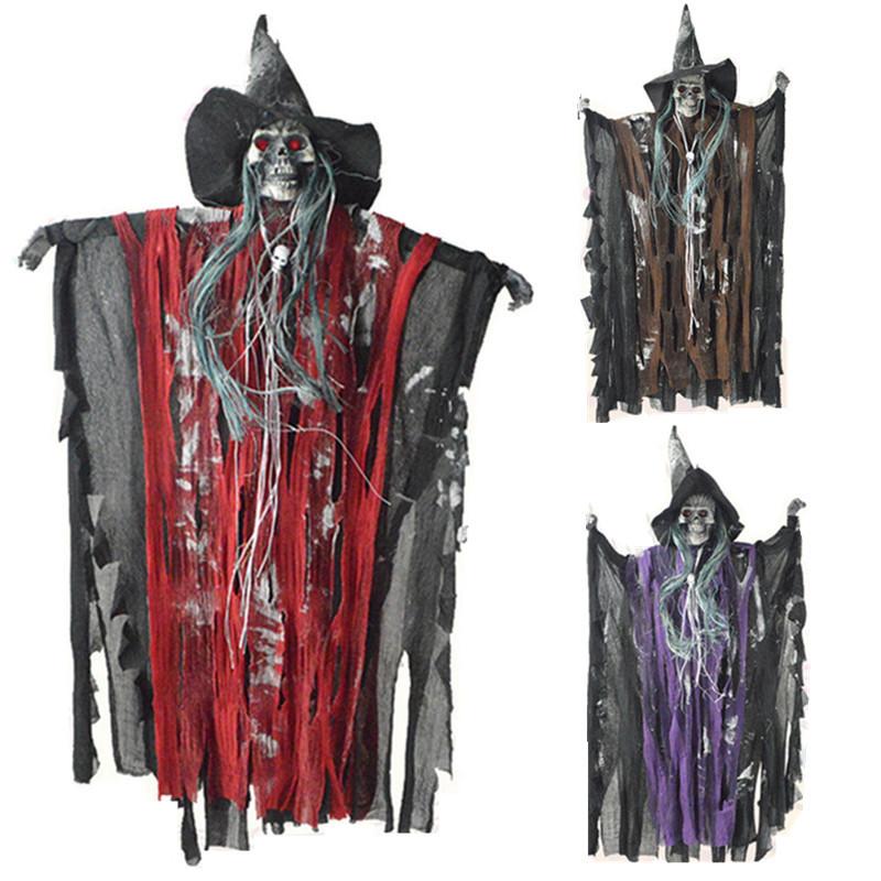 ... Topang gantung hantu penyihir Halloween yang menakutkan merah mata terang dekorasi mengerikan Bar - Internasional ...