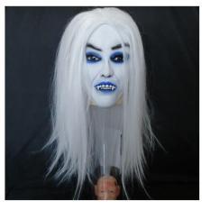 Topeng Nenek Sihir Vampire Witch Hantu Wig Mask Topeng Muka Halloween Kostum Topeng Full Face Wajah