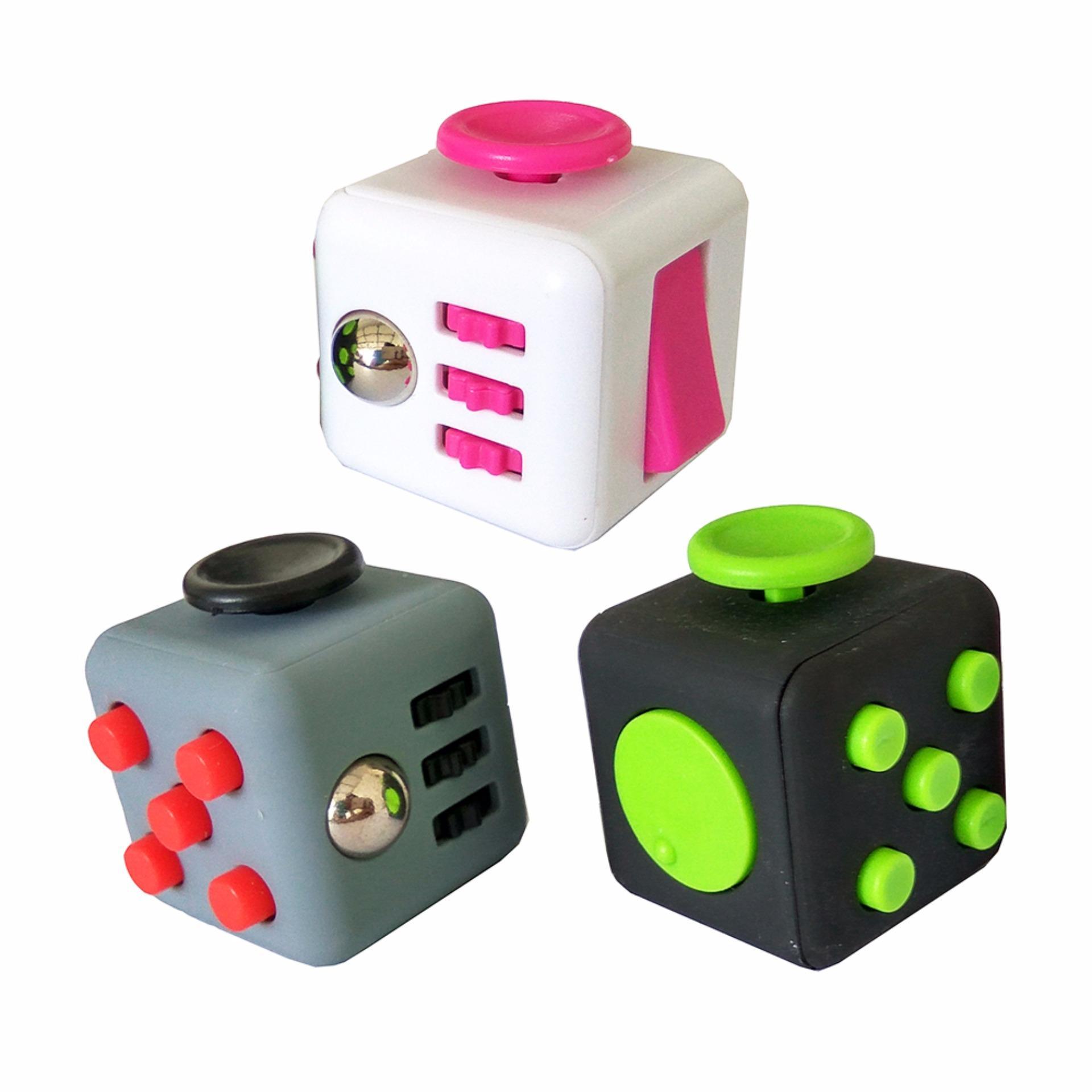Fidget Cube Kickstarter Finger Toys Therapy Mainan Vinyl Desk Stress Sohoku Spinner Anti Model Batman Toylogy Hand Focus Tekan Tombol Penghilang Stres