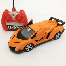 Toylogy Mainan Anak Radio Control Mobil Sport Orange - Remote RC Sports Car Rider 1:20 565-X4  - (Yellow)