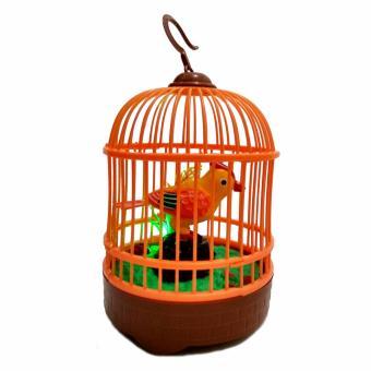 Toylogy Mainan Anak Robot Burung Bernyanyi dalam Sangkar ( Singing Heartful Bird )