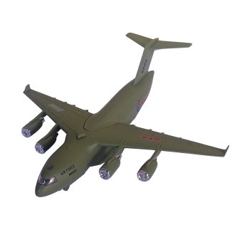 Toylogy Mainan Pesawat Terbang Pesawat Militer - Die Cast Metal AirCraft Millitary 9020 - Light Green