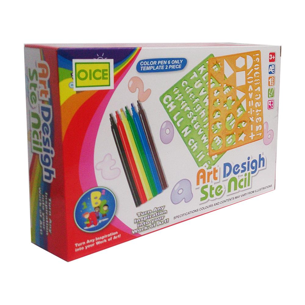 54pcspensil Warna Crayonset Alat Tulis Warna Daftar Update Harga Source · Toylogy Spidol dan Penggaris Bentuk Color Pen and Template Art Desigh QJ5536 ...