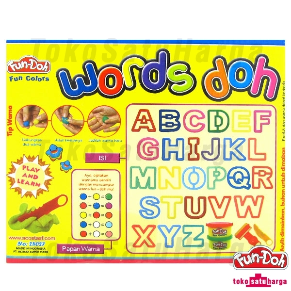 TSH Words Doh - Lilin Mainan - 1 Set .