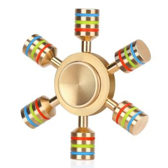 Unique Rainbow Fidget Spinner Metal Finger Spinner Hand SpinnerBrass For Autism Adult Anti Relieve Stress Toy · >>>>