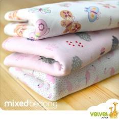 Velvet Mixed Bedong Girl - 3 Pcs