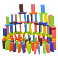 YBC 120 buah asli Domino kayu aneka warna standar Mainan Anak