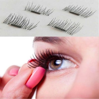 Pink Skiner Korea Set Beauty. Source · 1 Pair/ 4Pcs 3D Magnetic False Eyelashes Natural Soft Makeup Beauty Tools Accessories - intl
