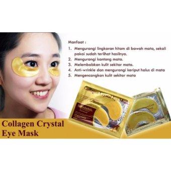 10 sachet Gold Eye Crystal Collagen Mask - masker mata collagen