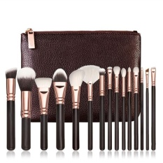 15 PCS Pro Makeup Brushes Set Cosmetic Complete Eye Kit + Case - intl