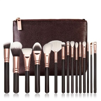 15 PCS Pro Makeup Brushes Set Cosmetic Complete Eye Kit + Case - intl