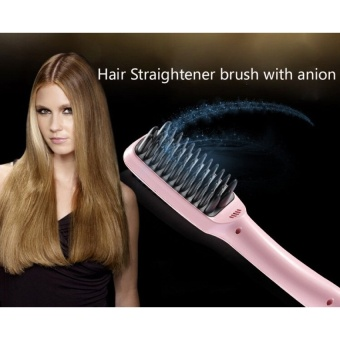 Harga 2016 New Arrived Brush Ionic Hair Straightener Comb Irons Come WithLED Display Electric Straight Hair Comb Straightening – intl Murah