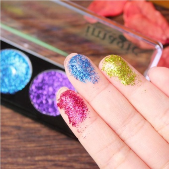 5 Color Glitter Bright Rainbow EyeShadows Cosmetic Makeup Pressed Glitters Diamond Rainbow Eye Shadows Palette Set (color 3#) - intl
