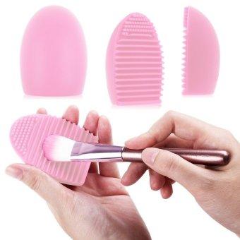 AIUEO - Brush Egg Cleaning Brush Tool Beauty Makeup Tools - White - 2