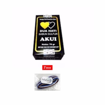 Akui Sabun Belerang Asli Obat Penyakit Kulit Obat Gatal Original BPOM - 1 Pcs + Free
