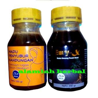 Al mabruroh Paket Madu Penyubur dan Madu Eury x - 1paket + gula jagung