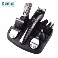 Alat Mesin Cukur Kemei Rechargable 6 in 1 Hair Trimmer Beard Shaver Razor- KM 600