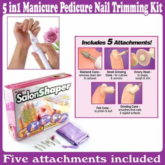 Alat Perias kuku - Pedicure Manicure 5 in 1 Electrik - Salon Shaper - Babamu