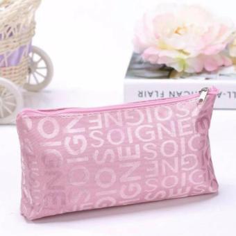... Harga Alisha Tas kosmetik Korea Motif Abjad Pink Terbaru klik gambar